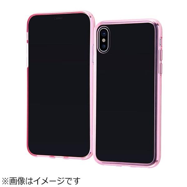 レイアウトrayoutiPhoneX用ハイブリッドケースピンクRT-P16CC2/PM