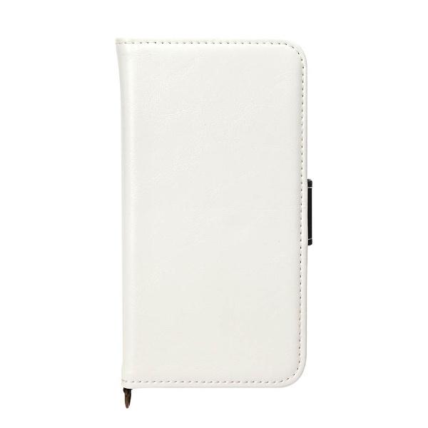 PGAiPhoneX用手帳型フリップカバーPUレザーダメージ加工ホワイトPG-17XFP05WH