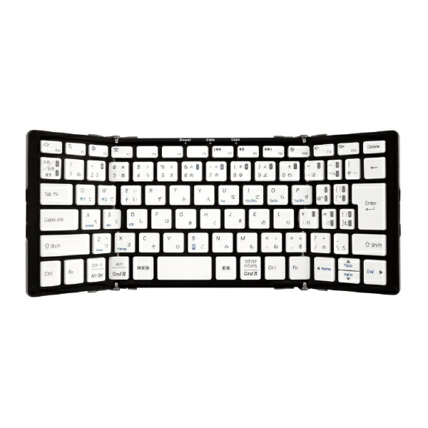 MOBOモボ【スマホ/タブレット対応】ワイヤレスキーボード[Bluetooth3.0・Android/iOS/Win]MOBO折りたたみ型(83キー・ブラック)AM-KTF83J-GB[AMKTF83JGB]