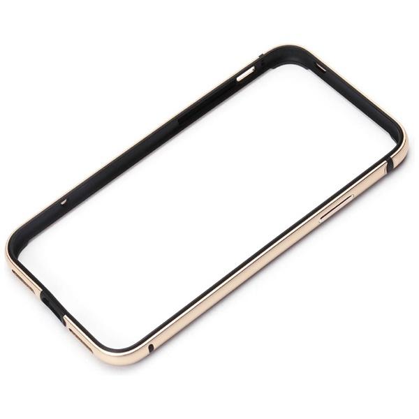 PGAiPhoneX用アルミ+TPUハイブリッドバンパーゴールドPG-17XBP06GD