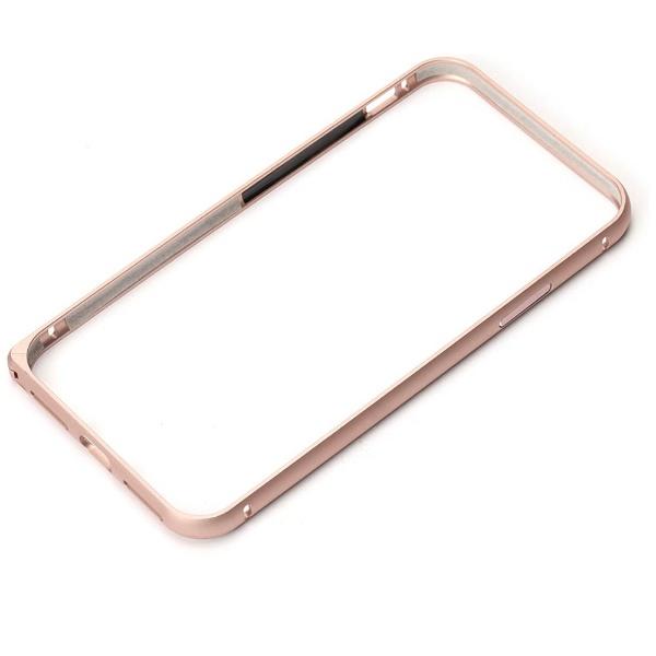 PGAiPhoneX用アルミニウムバンパーローズゴールドPG-17XBP04PK