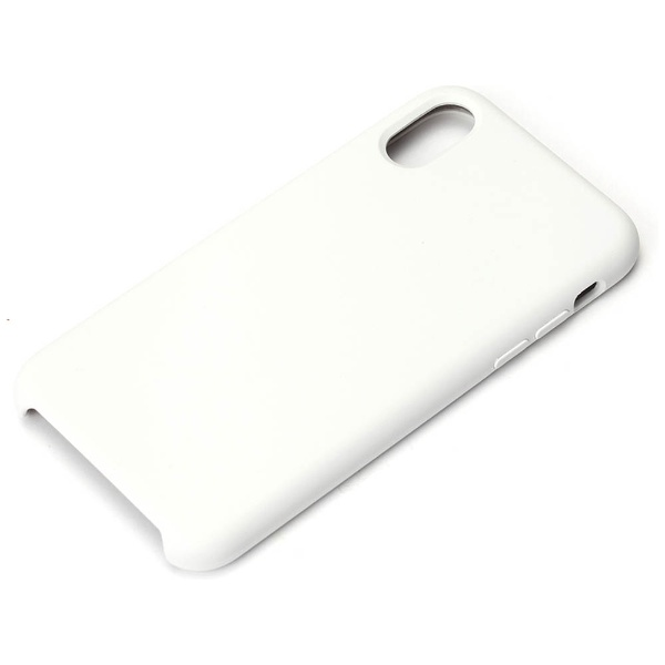 PGAiPhoneX用シリコンケースホワイトPG-17XSC02WH