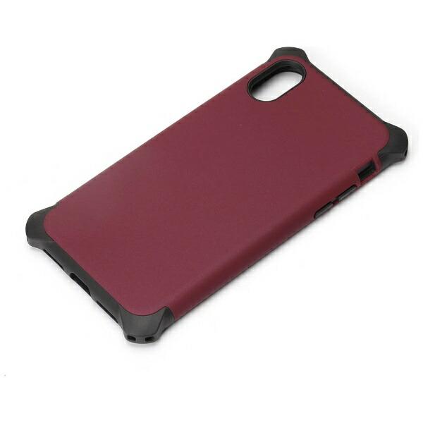 PGAiPhoneX用ハイブリッドタフケースワインレッドPG-17XPT03RD