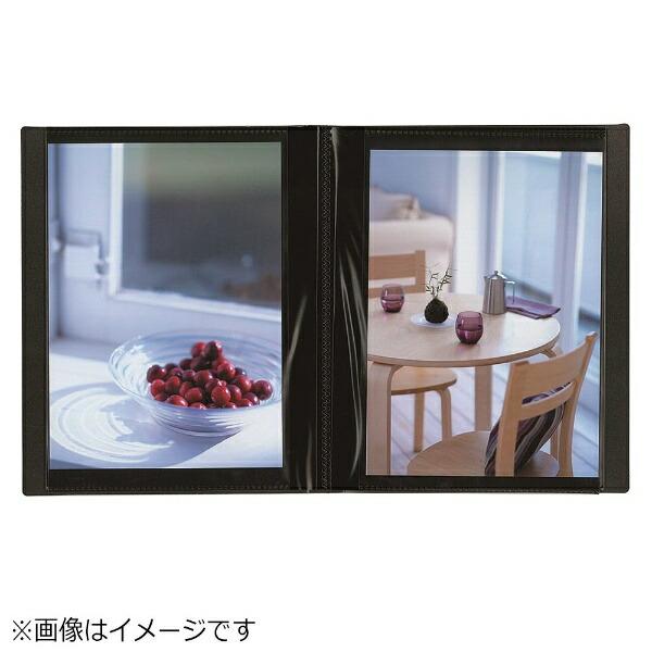 ナカバヤシNakabayashiイージーストッカー3(2L-判1段40枚収納/ブラック)アカ-E3P2L-40D[アカE3P2L40D]