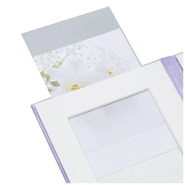 チクマChikumaクルミ写真台紙V-60L判2面(うす茶)15508-9[V60Lバン2メンウスムラサキ]