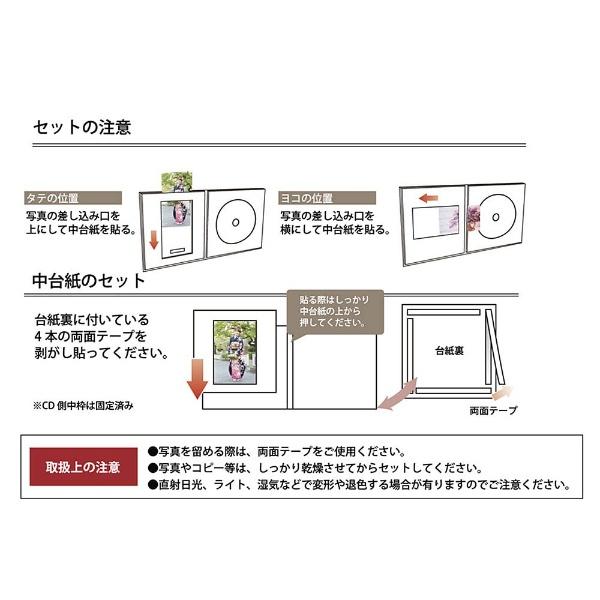 チクマChikumaCD/DVD収納付き写真台紙V-53L判/CD(うす茶)15513-3[V53LバンCDウスチャ]