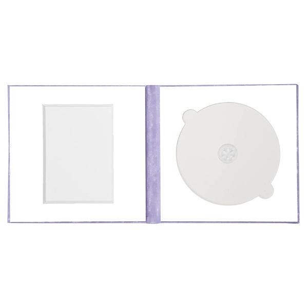 チクマChikumaCD/DVD収納付き写真台紙V-53L判/CD(うす茶)15512-6[V53LバンCDウスムラサキ]