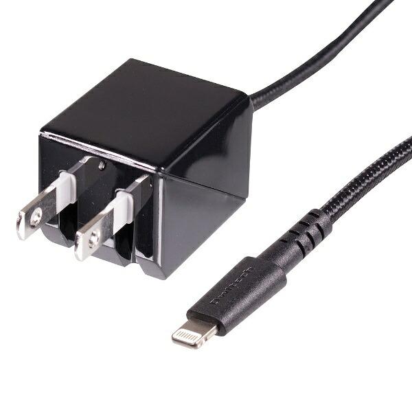 OWLTECHオウルテック【ビックカメラグループオリジナル】AC充電器Lightning2mブラックBKS-ACJKLT20-BK【point_rb】
