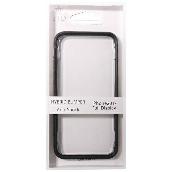 OWLTECHオウルテックiPhoneX用バンパーケースハイブリットブラックSTDOWL-CVIP821-BK