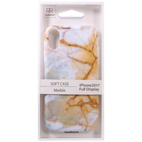OWLTECHオウルテックiPhoneX用背面ケースTPU大理石柄クリームCURRENOWL-CVIP819-CR