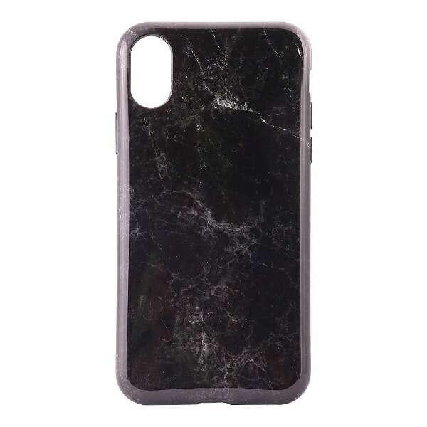 OWLTECHオウルテックiPhoneX用背面ケースTPU大理石柄ブラックCURRENOWL-CVIP819-BK