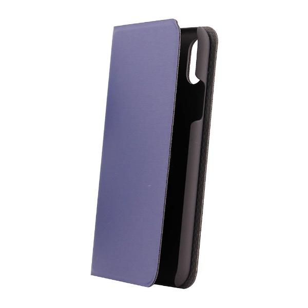 OWLTECHオウルテックiPhoneX用手帳型ケースヘアライン加工ネイビーSTDOWL-CVIP815-NV