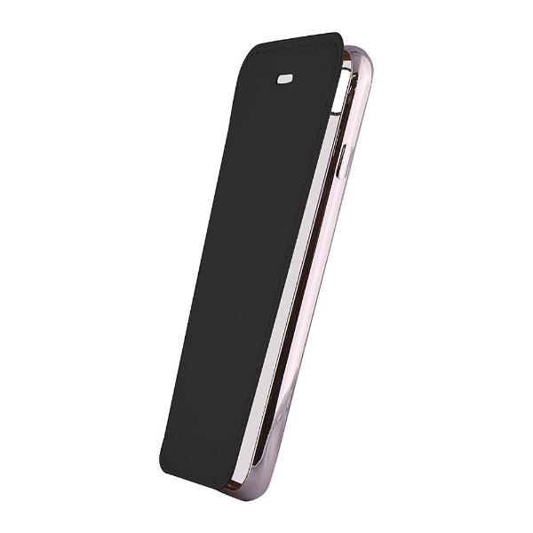 OWLTECHオウルテックiPhoneX用手帳型ケースPUx背面クリアTPUブラックSTDOWL-CVIP814-BK
