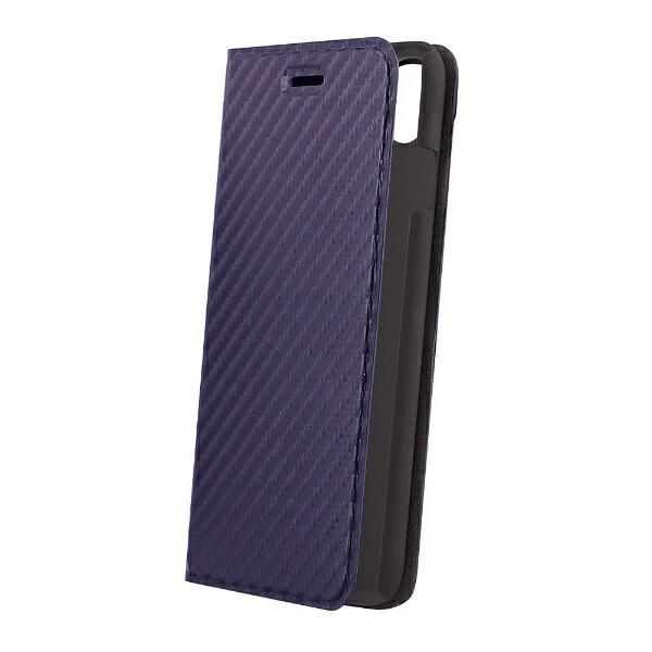 OWLTECHオウルテックiPhoneX用手帳型ケースカーボン柄ネイビーSTDOWL-CVIP813-CBNV