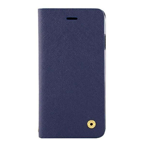 OWLTECHオウルテックiPhoneX用手帳型ケースサフィアーノ柄ネイビーCURRENOWL-CVIP804-NV