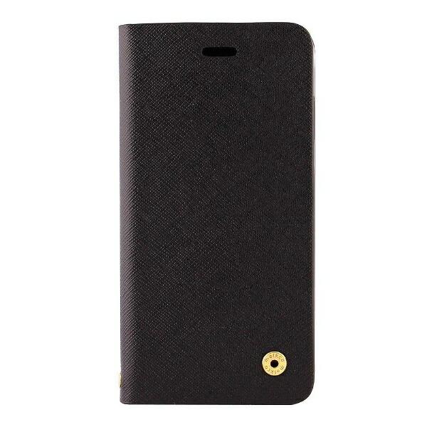 OWLTECHオウルテックiPhoneX用手帳型ケースサフィアーノ柄ブラックCURRENOWL-CVIP804-BK