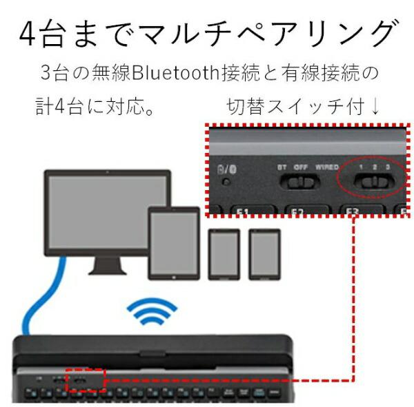 エレコムELECOMTK-DCP03BKキーボード[タブレット用]トラックボール搭載ブラック[Bluetooth/ワイヤレス][TKDCP03BK]