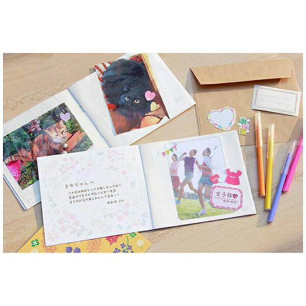 ナカバヤシNakabayashiスクエアアルバムL判12枚収納封筒付き(イエロー)アSPL120Y