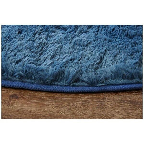イケヒコIKEHIKOラグミスティ—(楕円140×200cm/ブルー)