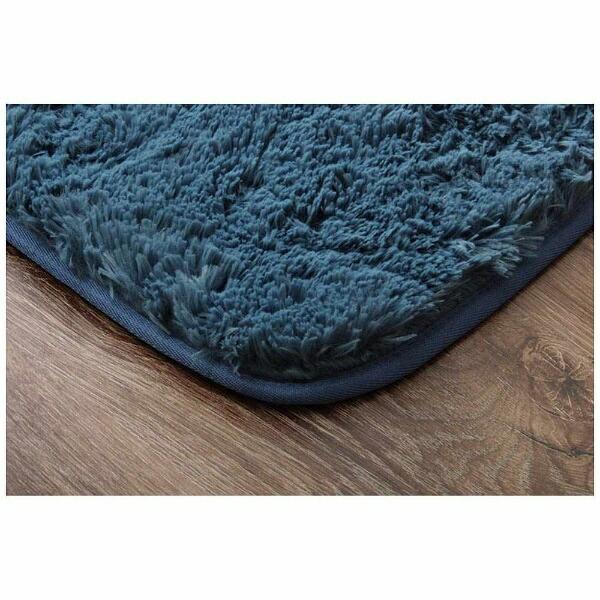 イケヒコIKEHIKOラグミスティ—(185×185cm/ブルー)