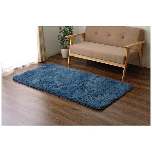 イケヒコIKEHIKOラグミスティ—(92×185cm/ブルー)