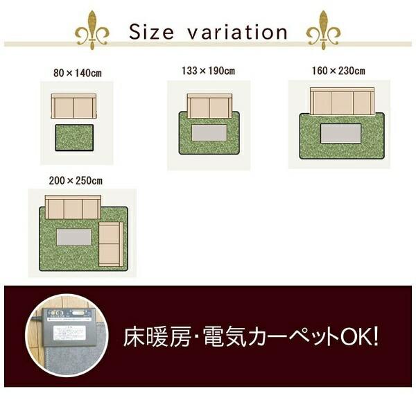 イケヒコIKEHIKOラグノマド(80×140cm/レッド)