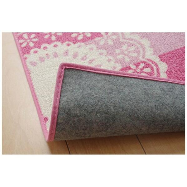 イケヒコIKEHIKOラグジェンヌII平織(133×170cm/ピンク)