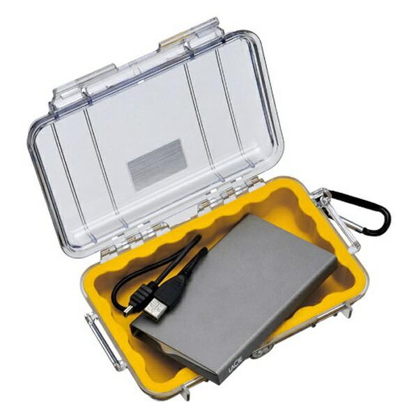 ペリカンPelican小型防水ハードケース1040HK(イエロー/クリア)