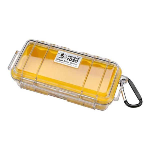 ペリカンPelican小型防水ハードケース1030HK(イエロー/クリア)