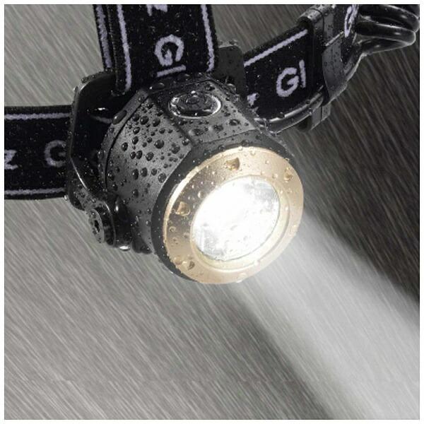ヤザワYAZAWAY06GH05BKヘッドライトブラック[LED/単3乾電池×3]