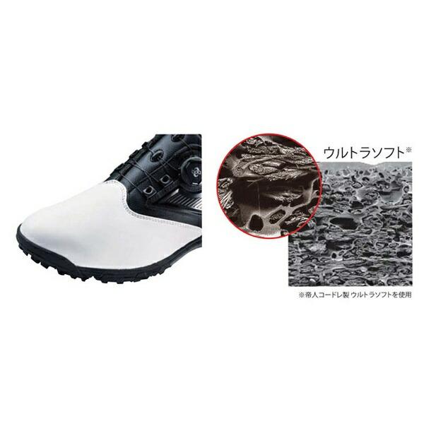 アシックスasics27.5cmメンズゴルフシューズGEL-TUSK2Boa(ホワイト×ブラック)TGN921