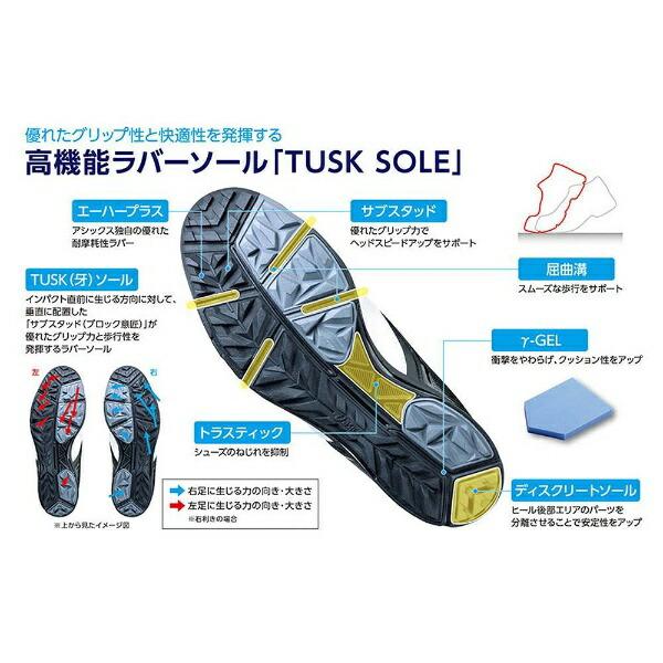 アシックスasics25.0cmメンズゴルフシューズGEL-TUSK2Boa(ホワイト×ブラック)TGN921