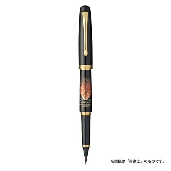 呉竹Kuretake[筆ペン]くれ竹万年毛筆夢銀河蒔絵物語鶴寿DAY140-31