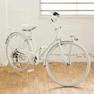 TAGlabelbyamadanaタグレーベルバイアマダナ【ビックカメラグループオリジナル】26型自転車amadanacitybike(ツヤケシホワイト/6段変速)ATB266【組立商品につき返品不可】【point_rb】【代金引換配送不可】