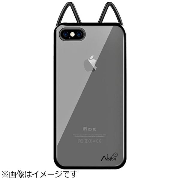 UIユーアイiPhone8PlusLovelyNabiMetalCaseクロームブラックNABI162