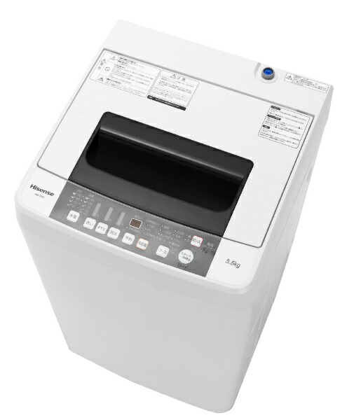 ハイセンスHisenseHW-T55C全自動洗濯機ホワイト[洗濯5.5kg/乾燥機能無/上開き][HWT55C][一人暮らし新生活新品小型設置洗濯機]