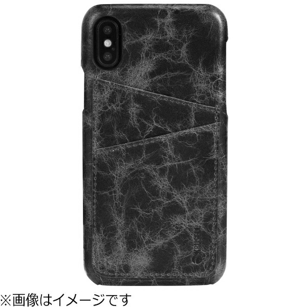 KRUSELLクルーセルiPhoneX用Tumba2CardCoverAppleブラックマーブル61107