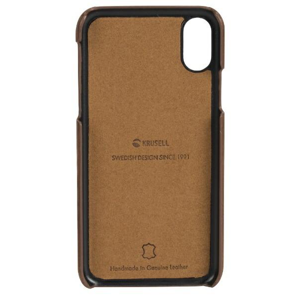 KRUSELLクルーセルiPhoneX用SunneCoverAppleVintageコニャック61106