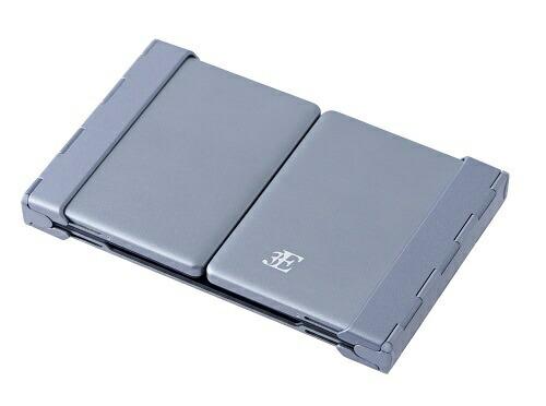 3Eスリーイー【スマホ/タブレット対応】キーボード[Android/iOS/Win]NEO(ネオ)3つ折りタイプスタンド付(英語64キー)ブラック3E-BKY8-BK[Bluetooth/ワイヤレス][3EBKY8BK]