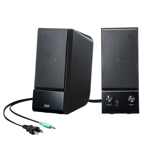 サンワサプライSANWASUPPLYMM-SPL14BKPCスピーカーブラック[USB電源/2.0ch]