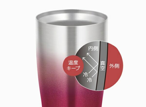 サーモスTHERMOS真空断熱タンブラースパークリングレッドJDE-420C-SP-R[420ml][JDE420CSPR]