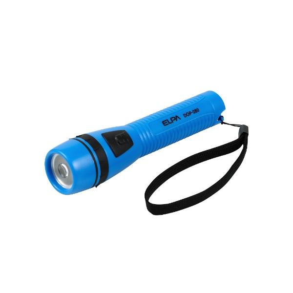 ELPAエルパDOP-280-BL懐中電灯ブルー[LED/単3乾電池×2/防水]