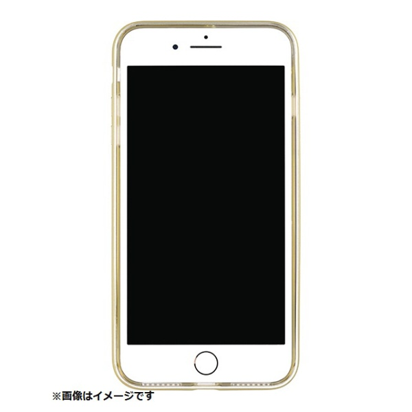 パワーサポートPOWERSUPPORTiPhone8Plus用ShockproofAirJacketラバーゴールドPBK-51