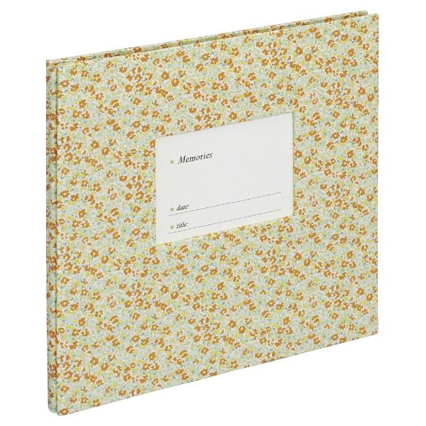 ナカバヤシNakabayashiファブリックスタイル窓抜きビス式100年台紙デミカジュアルフラワー(イエロー)アH-DF-182-Y[アH-DF-182-Y]