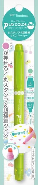 トンボ鉛筆Tombow[水性サインペン]プレイカラードットアップルグリーンGCE-108