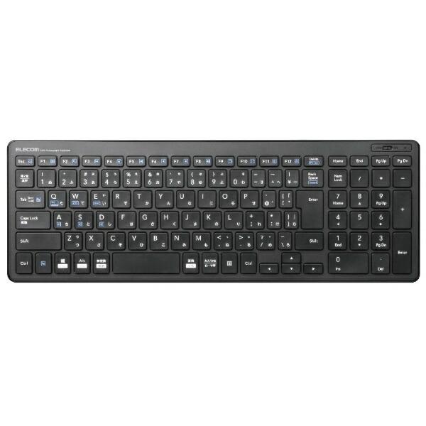 エレコムELECOMTK-FBP101BKキーボード超薄型コンパクトブラック[Bluetooth/ワイヤレス][TKFBP101BK]