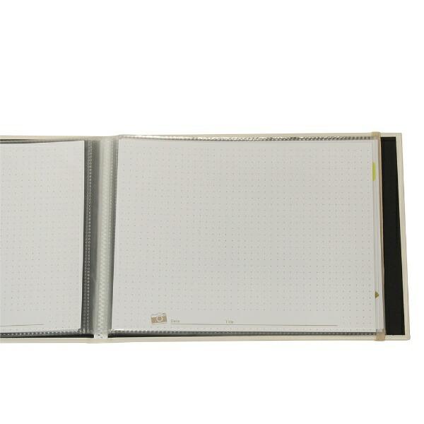ナカバヤシNakabayashiおもいで写真アルバムホワイト柄