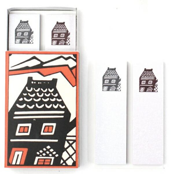 日本製墨書遊NihonSeibokuShoyuマッチ箱付箋カリーの店SKE-0302