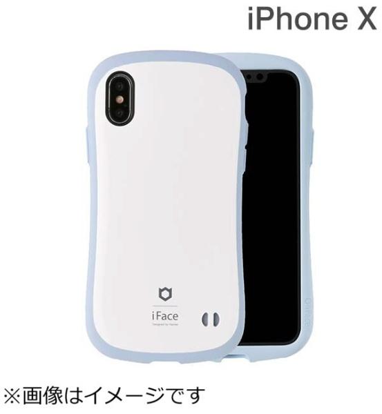 HAMEEハミィiPhoneX用iFaceFirstClassPastelケースホワイト/ブルーIP8IFACEPASTELWHBL