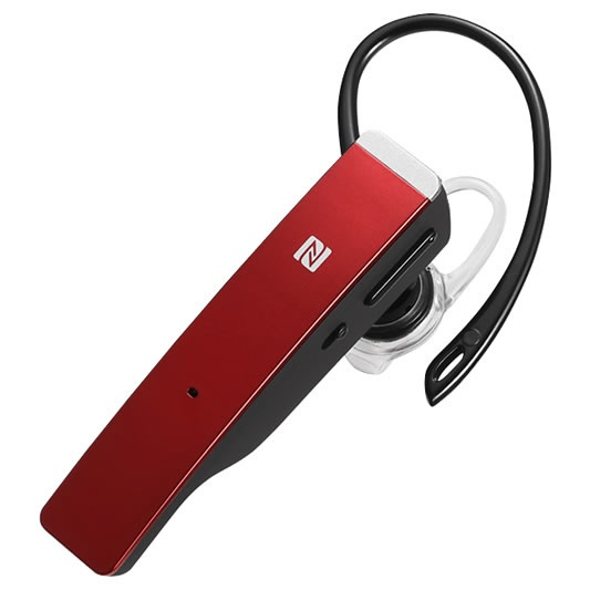 BUFFALOバッファローBSHSBE500RDヘッドセットレッド[ワイヤレス(Bluetooth)/片耳/イヤフックタイプ][BSHSBE500RD]